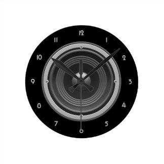 Woofer Round Wall Clock