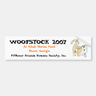 Woofstock 2007 logo bumper sticker
