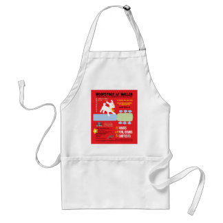 Woofstock at Waller Poster Adult Apron