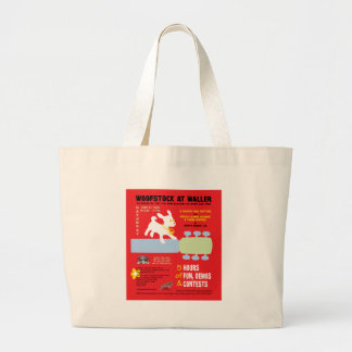 Woofstock at Waller Poster Canvas Bag