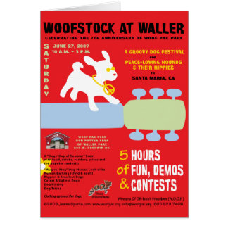 Woofstock at Waller Poster Card