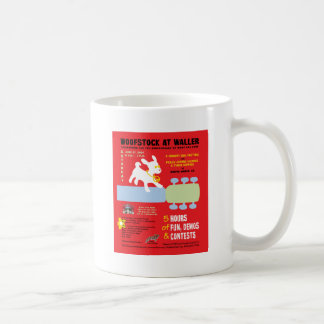 Woofstock at Waller Poster Classic White Coffee Mug