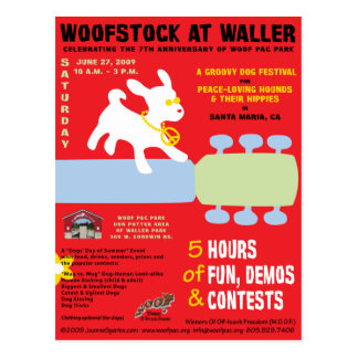 Woofstock at Waller Poster Postcard