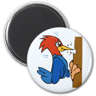 Woogy Woodpecker 2 Inch Round Magnet