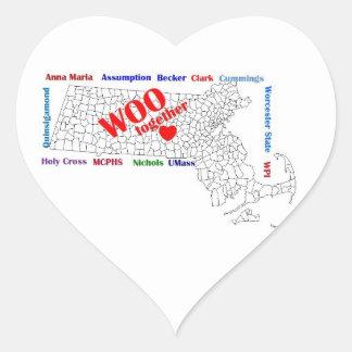 WOOheart Heart Sticker