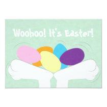 Woohoo! It's Easter! Easter Egg Hunt Invitation