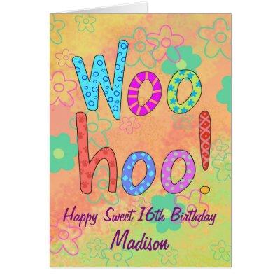 Happy Sweet 16 Ribbons And Bows Birthday Card Zazzle