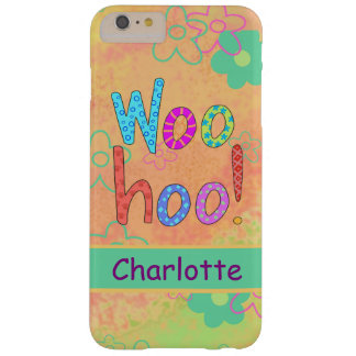 WooHoo Name Personalized Orange Graphic Art Barely There iPhone 6 Plus Case
