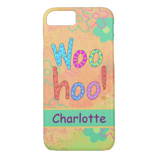 WooHoo Name Personalized Orange Graphic Art iPhone 8/7 Case