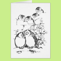 Wooing Owl Has an Audience Card