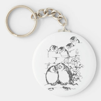 Wooing Owl Has an Audience Keychain