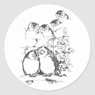Wooing Owl Has an Audience Stickers