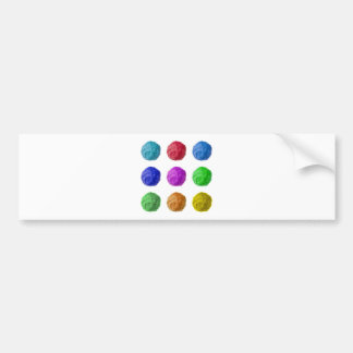 wool ball car bumper sticker