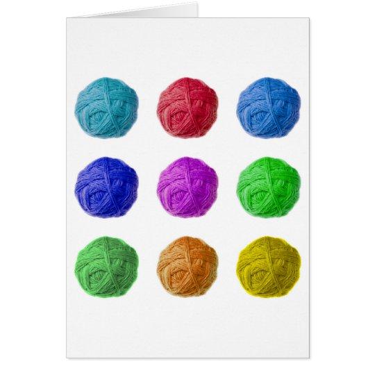 wool ball card