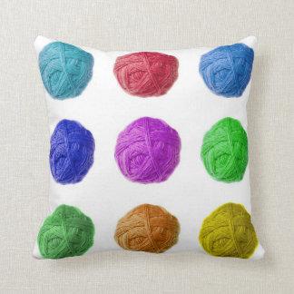 wool ball pillow