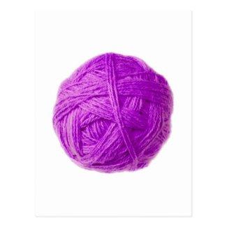 wool ball post card