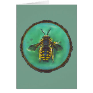 Wool Carder Bee Card