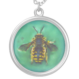 Wool Carder Bee Silver Plated Necklace