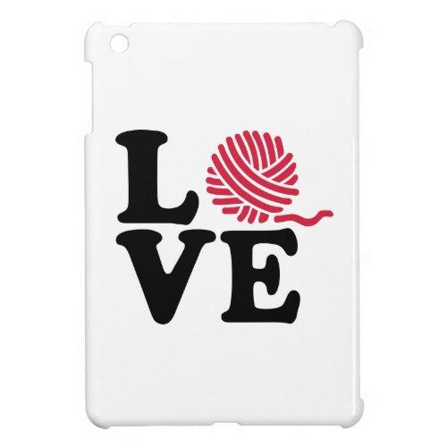 Wool knitting love iPad mini covers