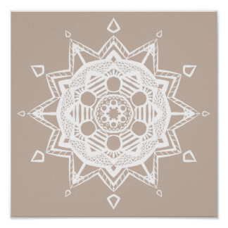 Wool Mandala Poster