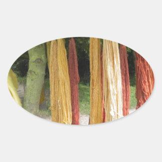 Wool Oval Sticker