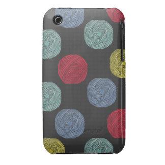Wool Yarns Polka Dots Case-Mate iPhone 3 Case