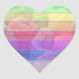 Woolen Balls Spectrum - Knit Club Collection Heart Sticker