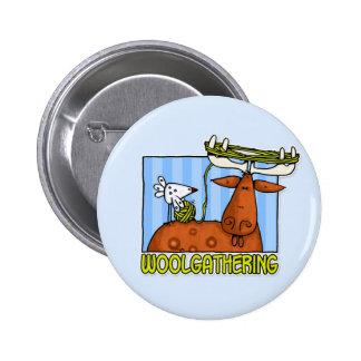 woolgathering pinback buttons