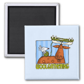 woolgathering 2 inch square magnet