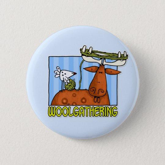 woolgathering pinback button