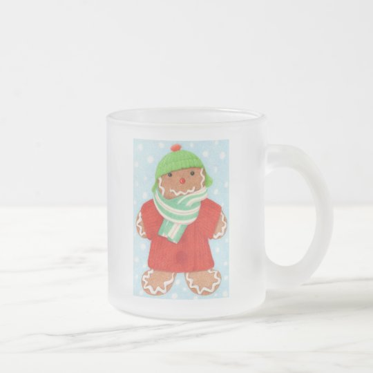 Woolie Gingerbread Frosted Glass Mug #1