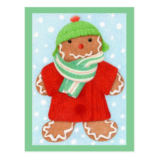 Woolie Gingerbread Postcard #2