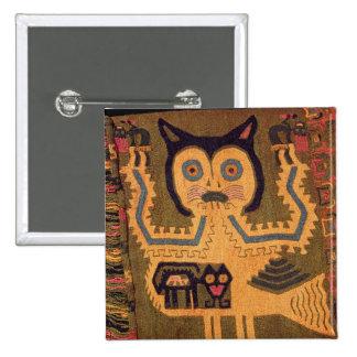 Woollen figure of a jaguar, Paracas Culture Pinback Button
