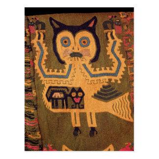 Woollen figure of a jaguar, Paracas Culture Postcard
