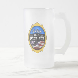 Woolley Pale Ale Frosted Glass Beer Mug