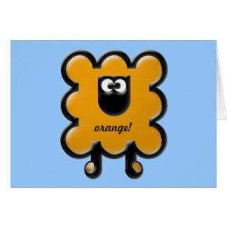 woollie anaranjado tarjeta de felicitación
