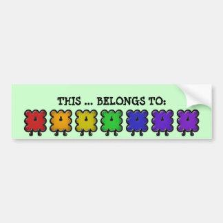 woollies belongs too bumper sticker