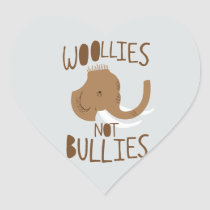 Woollies Not Bullies Heart Sticker