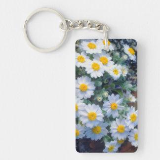 Woolly Daisy Wildflowers Keychain