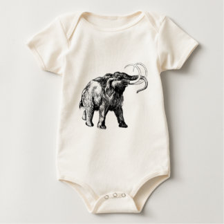 woolly-mammoth-1 baby bodysuit