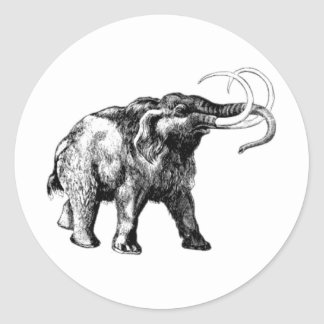 woolly-mammoth-1 classic round sticker