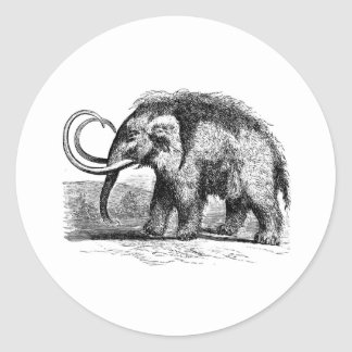 woolly-mammoth-2 classic round sticker