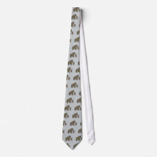 Woolly Mammoth And Bigfoot Neck Tie
