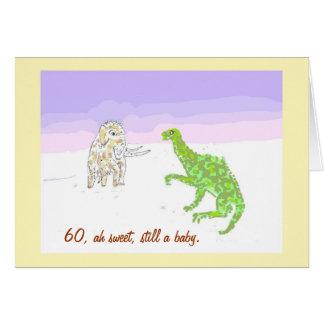 Woolly Mammoth and Dinosaur Card. Card