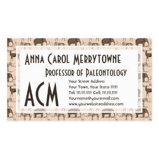 Woolly Mammoth and Megaceros Prehistoric Animals Double-Sided Standard Business Cards (Pack Of 100)