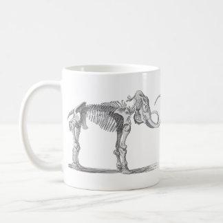 Woolly Mammoth and Skeleton Vintage Evolution Mug