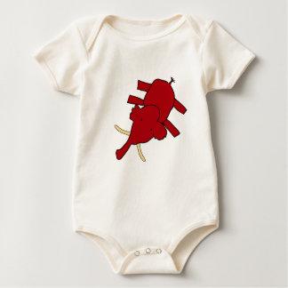 Woolly Mammoth Baby Bodysuit