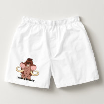 Woolly Mammoth Cartoon Boxers
