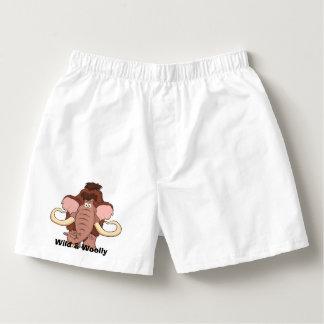 Woolly Mammoth Cartoon Boxers