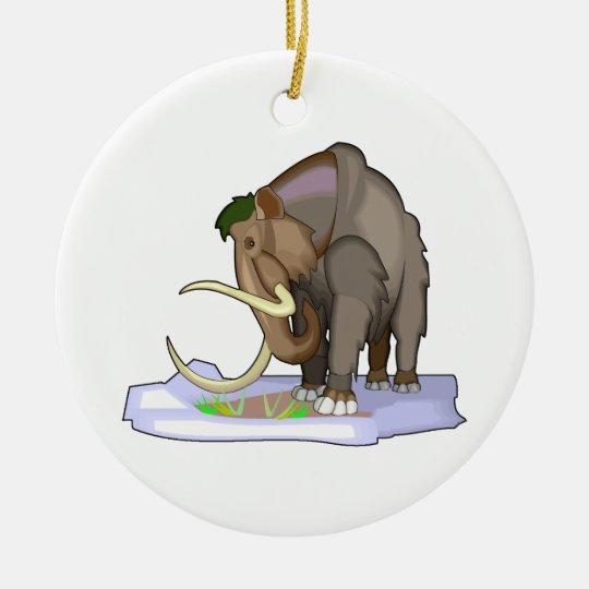 Woolly Mammoth Ceramic Ornament